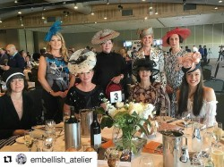 The hat filled table for the millineryaustralia at the Womenhellip