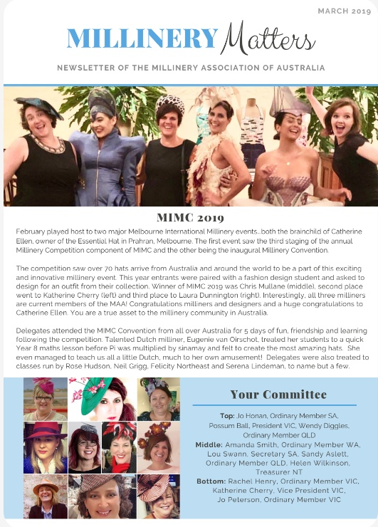Millinery Matters March 2019